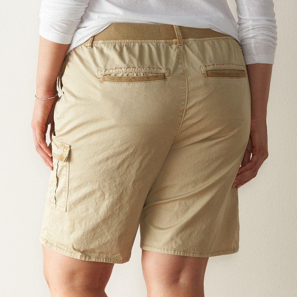 Plus Size SONOMA Goods for Life™ Cargo Bermuda Shorts