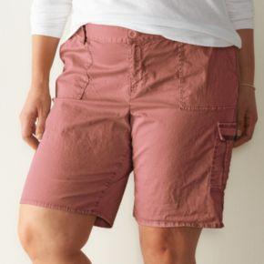 Plus Size SONOMA Goods for Life? Cargo Bermuda Shorts