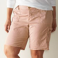 Plus Size SONOMA Goods for Life™ Cargo Bermuda Shorts
