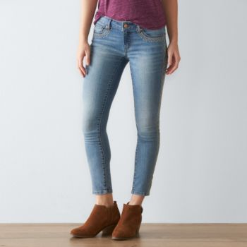 Petite SONOMA Goods for Life? Embroidered Skinny Jeans