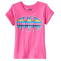 Girls 4-6x DC Comics Batman Glitter Heart Tee