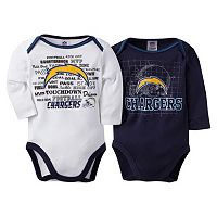Baby San Diego Chargers 2-Pack Bodysuits