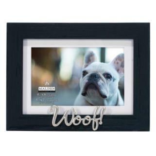 """Woof"" 4"" x 6"" Distressed Frame"
