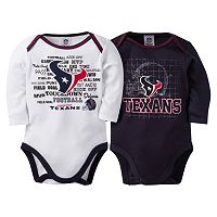 Baby Houston Texans 2-Pack Bodysuits