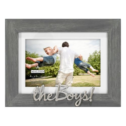 """The Boys"" 4"" x 6"" Distressed Frame"