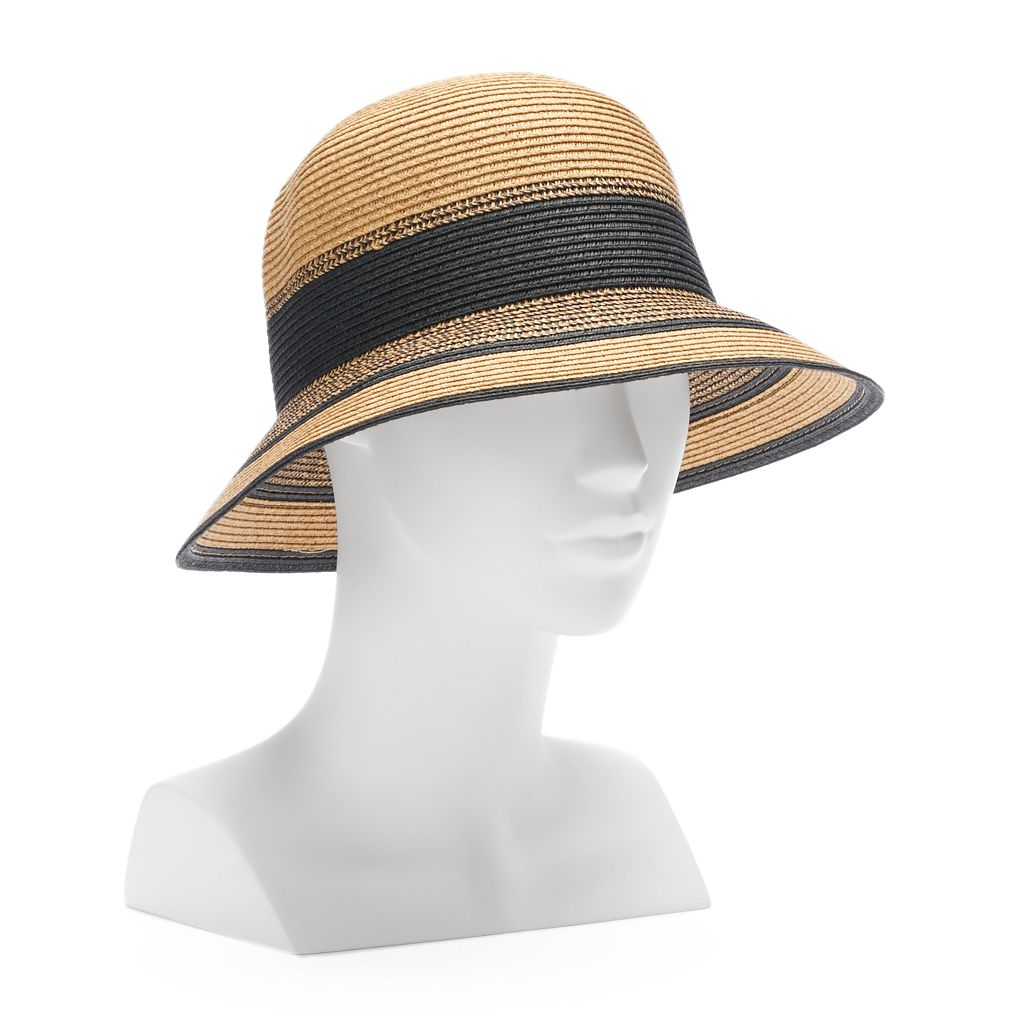 Women's SONOMA Goods for Life™ Inset Stripe Cloche Hat