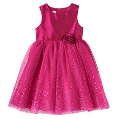 Girls 4-6x Marmellata Classics Dotted Glitter Rosette Tulle Dress