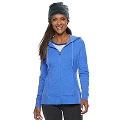 Petite Tek Gear® Dry Tek Zip-Front Hoodie