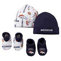 Baby Denver Broncos 4-Piece Cap & Crib Shoes Set