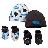 Baby Carolina Panthers 4-Piece Cap & Crib Shoes Set