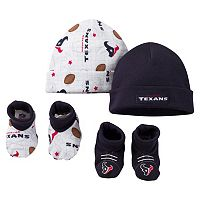 Baby Houston Texans 4-Piece Cap & Crib Shoes Set
