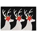 Liora Manne Frontporch Reindeer Indoor Outdoor Rug