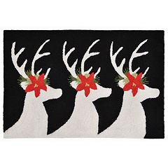 Liora Manne Frontporch Reindeer Indoor Outdoor Rug