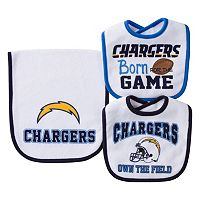 Baby San Diego Chargers 3 pc Bib & Burp Cloth Set