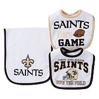 Baby New Orleans Saints 3-Piece Bib & Burp Cloth Set
