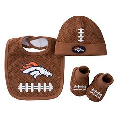 Baby Denver Broncos 3 pc Cap, Crib Shoes & Bib Set