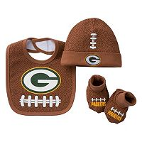 Baby Green Bay Packers 3 pc Cap, Crib Shoes & Bib Set