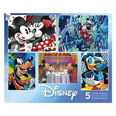 Disney's Classic 5-in-1 Multi Pack Puzzle Set by Ceaco