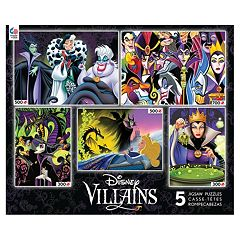 Disney's Villains 5-in-1 Multi Pack Puzzle Set by Ceaco
