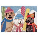 Liora Manne Frontporch Ski Dogs Indoor Outdoor Rug