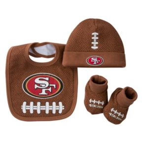 Baby San Francisco 49ers 3-Piece Cap, Crib Shoes & Bib Set