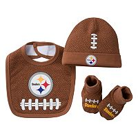 Baby Pittsburgh Steelers 3-Piece Cap, Crib Shoes & Bib Set