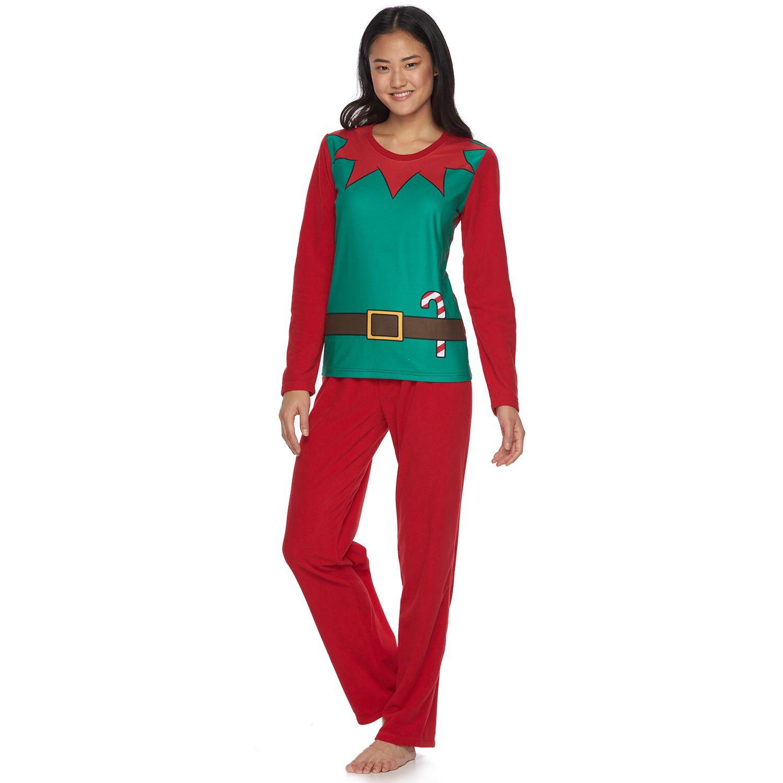 Womens Jelli Fish Elf Suit Pajama Set