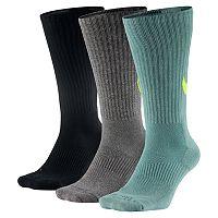 Men's Nike 3-pack Dri-Fit Swoosh HBR Crew Socks