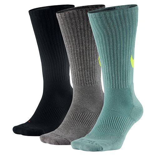 e92b2ae56af9 Men's Nike 3-pack Dri-Fit Swoosh HBR Crew Socks