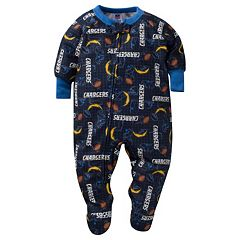 Baby San Diego Chargers Footed Pajamas