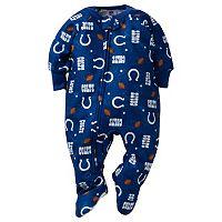 Baby Indianapolis Colts Footed Pajamas