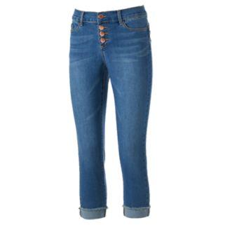 Women's Juicy Couture Button Fly Capri Jeans