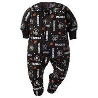 Baby Oakland Raiders Footed Pajamas