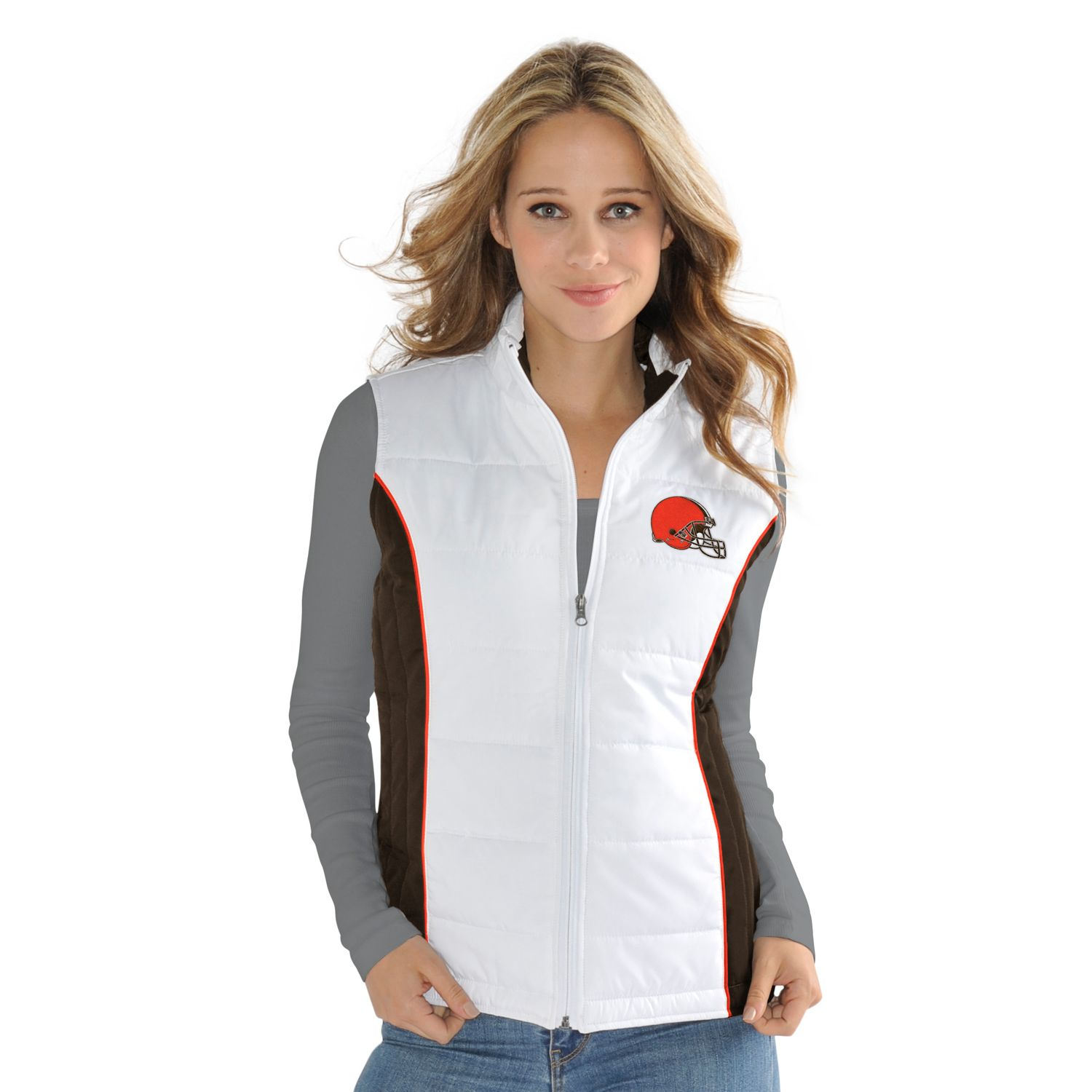 Womens Cleveland Browns Tackle Me Quilted Jacket