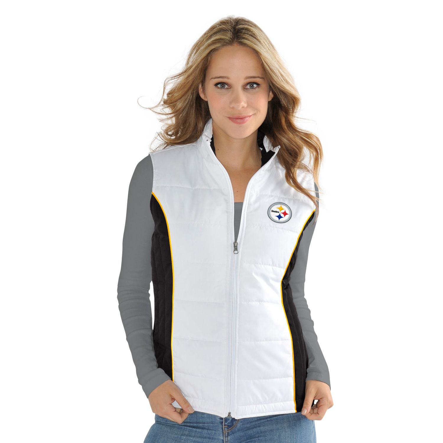 Womens Pittsburgh Steelers Tackle Me Quilted Jacket