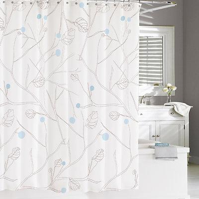 Cassadecor Winter Leaves Shower Curtain