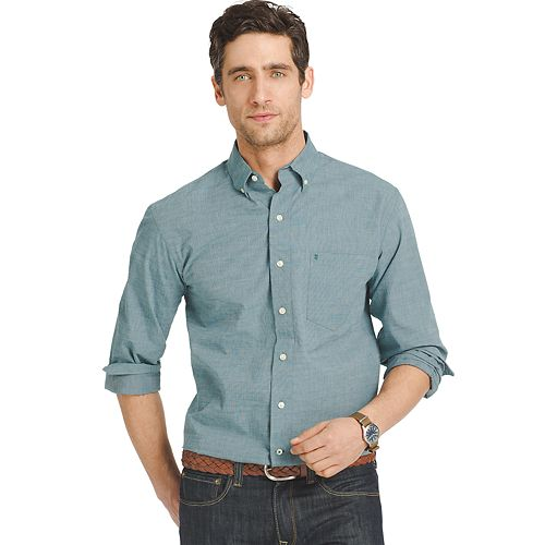 Men's IZOD Signature Slim-Fit Poplin Button-Down Shirt