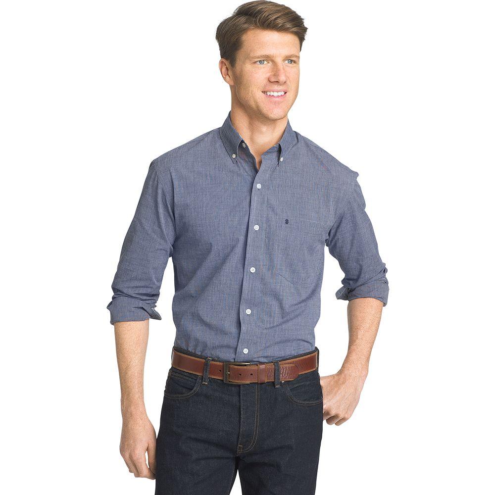 Mens Izod Signature Slim Fit Poplin Button Down Shirt