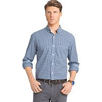 Men's IZOD Slim-Fit Gingham-Checked Stretch Button-Down Shirt