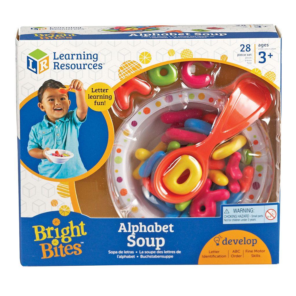 Learning Resources Bright Bites Alphabet Soup Set