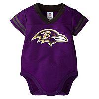 Baby Baltimore Ravens Dazzle Bodysuit