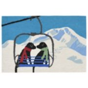 Liora Manne Frontporch Ski Lift Love Indoor Outdoor Rug