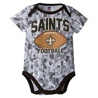 Baby New Orleans Saints Camouflage Bodysuit