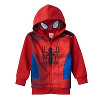 Toddler Boy Marvel Spider-Man Eye Mask Hoodie
