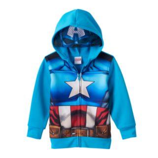 Toddler Boy Marvel Captain America Eye Mask Hoodie