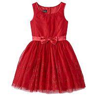 Girls 7-16 Lilt Red Glitter Mesh Dress
