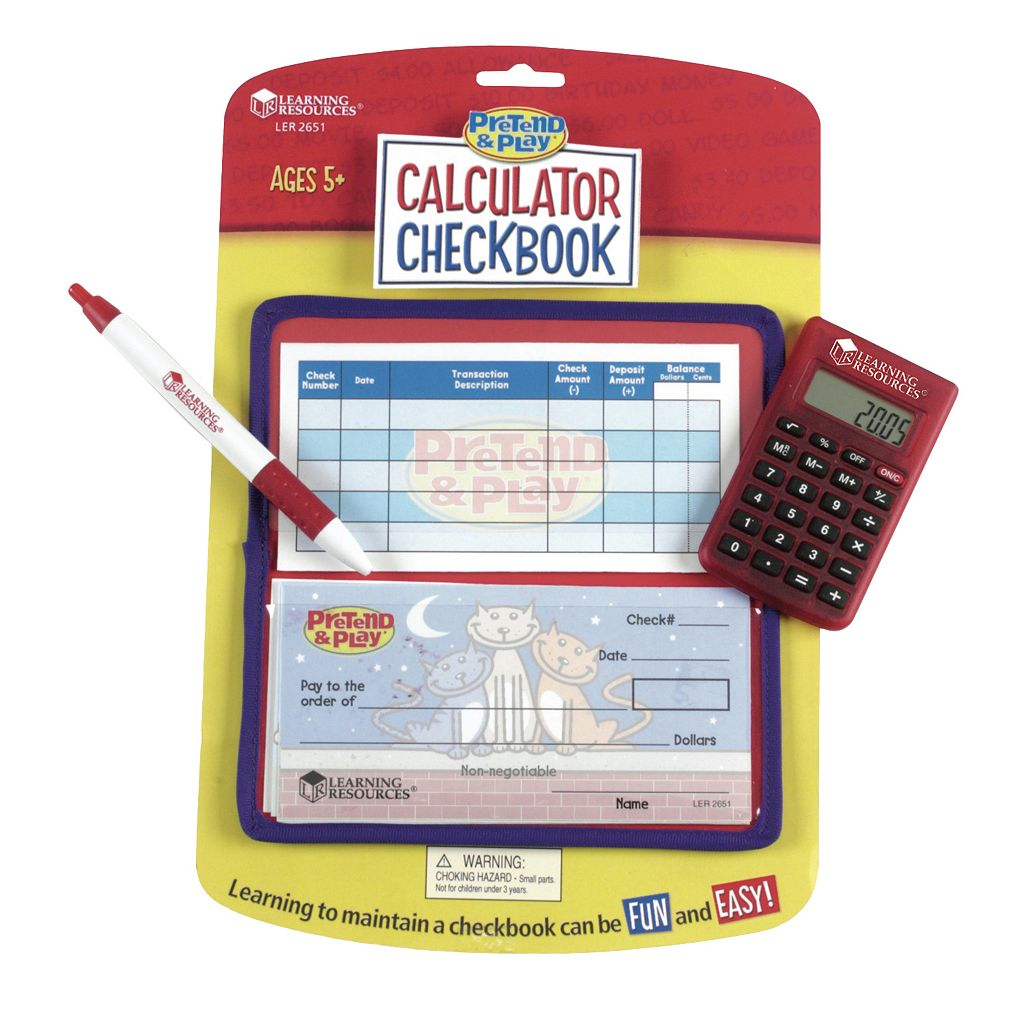 Learning Resources Pretend & Play Checkbook Calculator