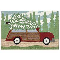 Trans Ocean Imports Liora Manne Frontporch Woody Wonderland Pine Indoor Outdoor Rug