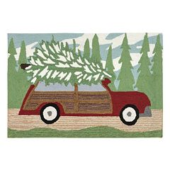 Liora Manne Frontporch Woody Wonderland Pine Indoor Outdoor Rug