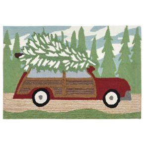 Liora Manne Frontporch Woody Wonderland Pine Indoor Outdoor Rug